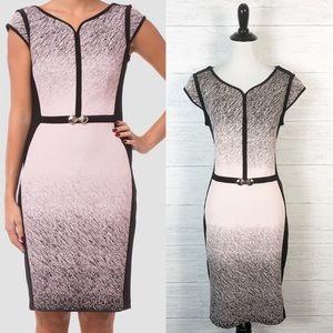 Joseph Ribkoff • Pink and Black Sheath Dress 10
